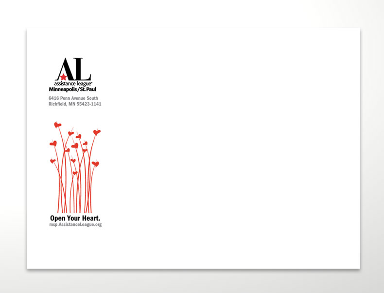 """Open Your Heart"" Appeal Envelope Design"