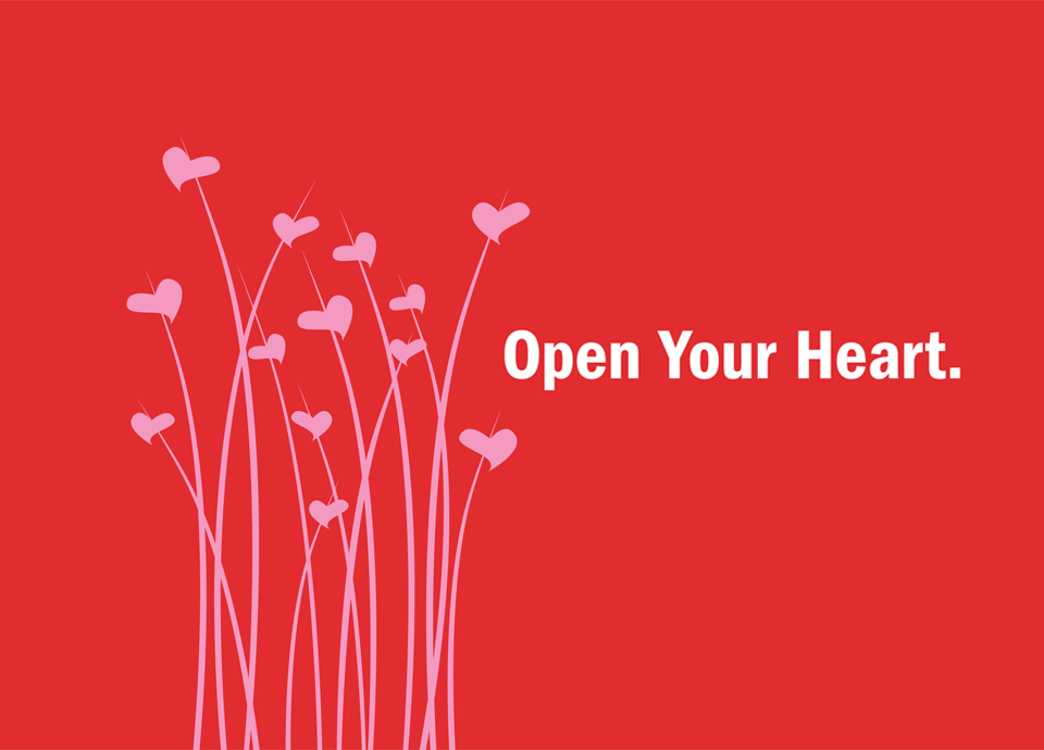 open your heart cover design