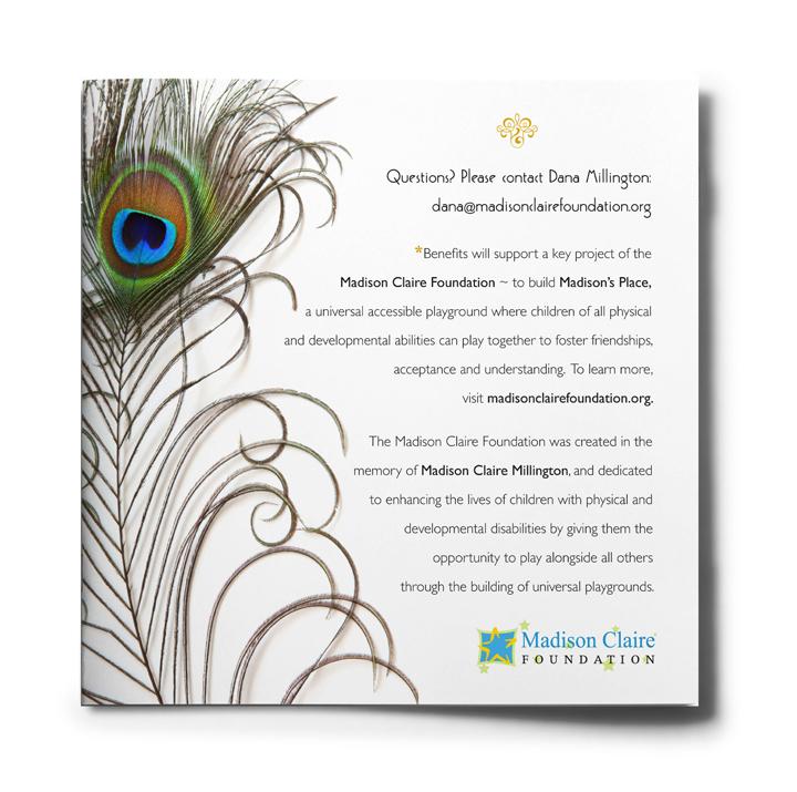 Madison Claire Foundation Roaring 20s Gala Fundraiser Invitation Back Cover