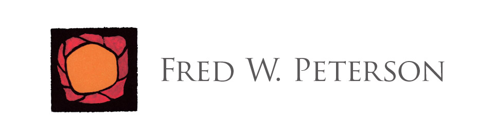 Drawn Logo Mark Typography for Fred W. Peterson