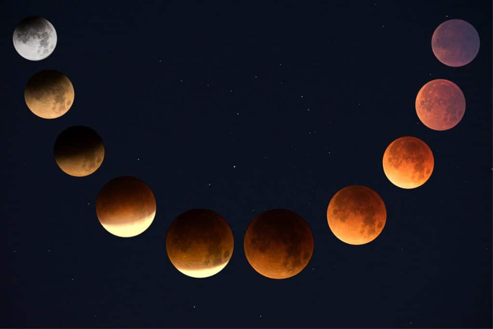 photo of lunar moon waxing waning phases