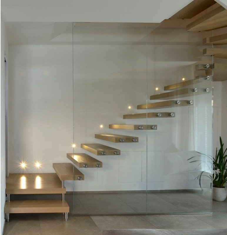 How Do Floating Staircases Work Modern Cantilever Stairs Systems | Floating Stairs With Glass Railing | Wall | Commercial | Glass Staircase | Thin Glass | Modern