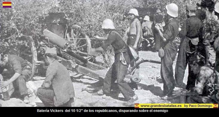 la artilleria de los republicanos en la batalla de brunete