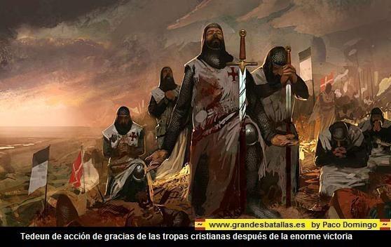 FINAL DE LA BATALLA DE LAS NAVAS. DANDO GRACIAS A DIOS