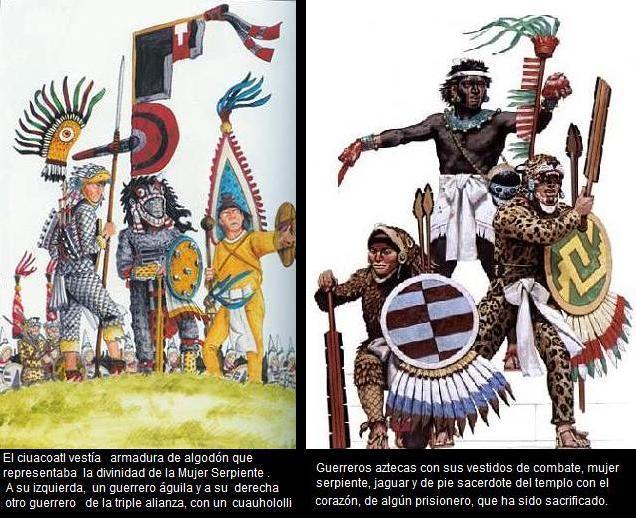 GUEREROS Y SACERDOTES AZTECAS