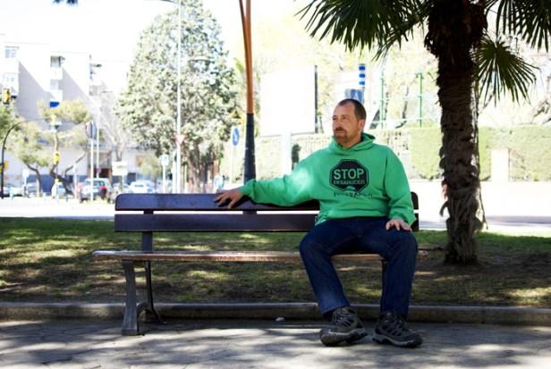 Ricardo Rosado es portavoz de la PAH