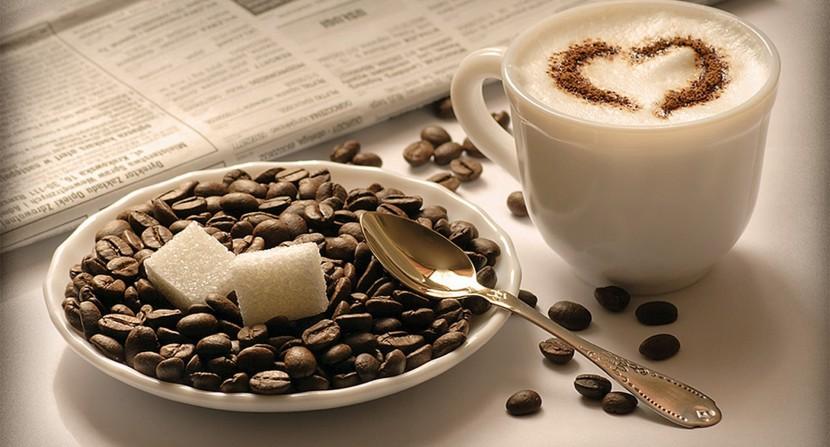 Ser feliz o tomar café
