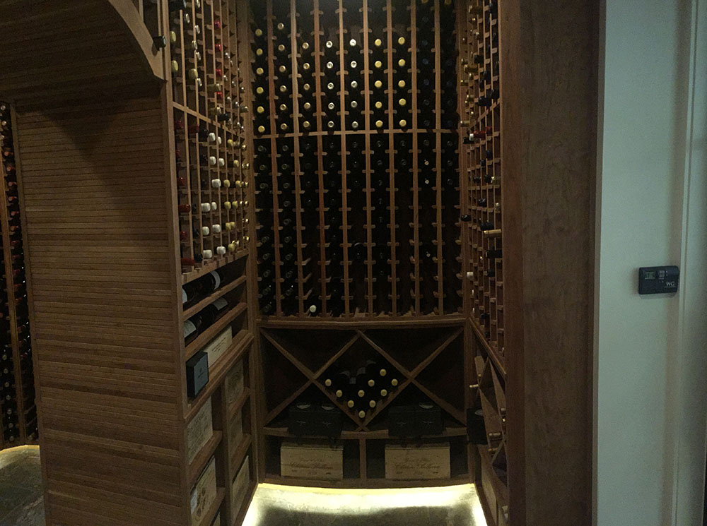 Custom Hand Built Wine Cellars In Austin Tx Grandeur Cellars