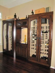 2 Conditioned wine Cabinets with pouring station