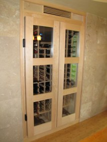 Built in Conditioned Wine Cabinet