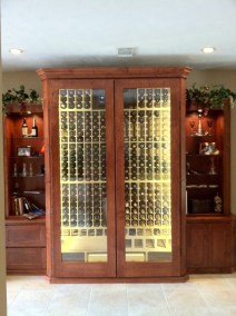 Conditioned Wine Cabinet with Side Storage