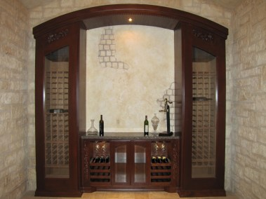 Custom Wine Storage Cabinet