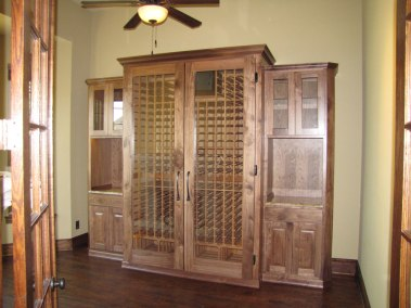 Large Wine Cabinet with side storage