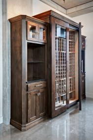 Large Wine Cabinet with side storage2