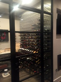 Metal Peg Racking in wine cellar