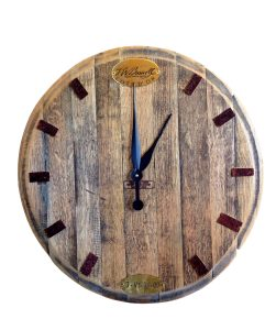 Wine Stained clock_White Background