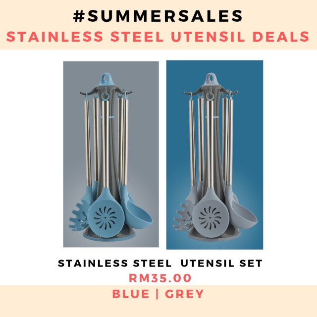 5-piece-stainless-steel-utensil-set-kitchenware-silicone-bpa-free-kitchen-essentials-harvey-norman-ikea-tools-july-summer-sale-grandeur-gifts-malaysia-online-shopping-unique-gift-ideas