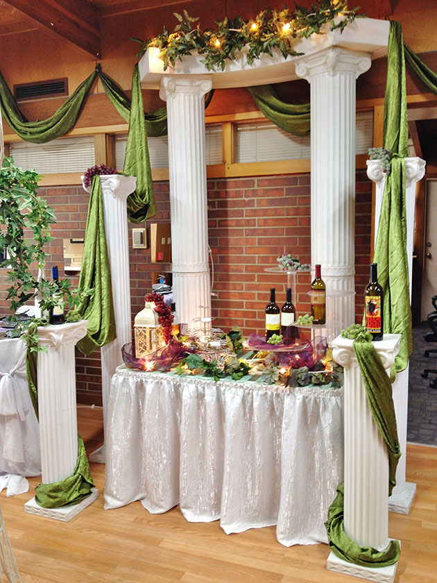 chair covers linen rod iron chairs showroom portfolio - grand events & party rentals