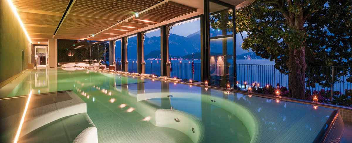 Luxury Spa and wellness center ESPA 5 star hotel on Lake Como