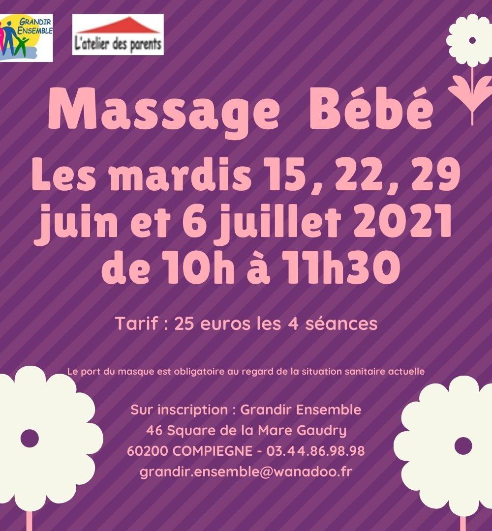 Cycle massage 2 du 15 juin au 6 juillet 2021