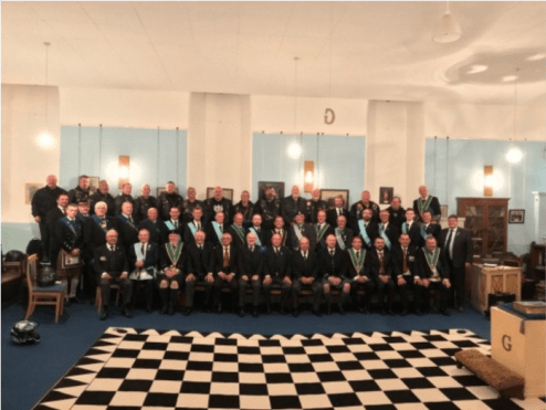 Assembled Brethren in the Lodge Room
