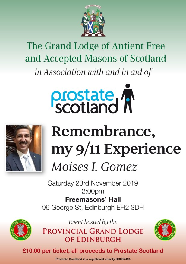 My 9/11 Experience by Moises I. Gomez in Association with and in aid of Prostate Scotland