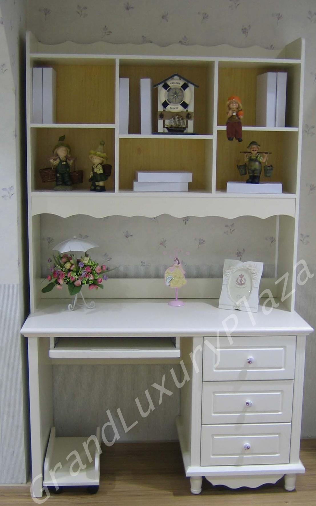 Scrivania in bianco con libreria sovrapposta PRINCESS 815  Grand Luxury Plaza