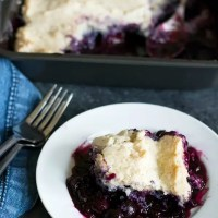 Homemade Gluten Free Blueberry Cobbler