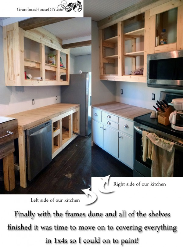 How to DIY build your own white country kitchen cabinets