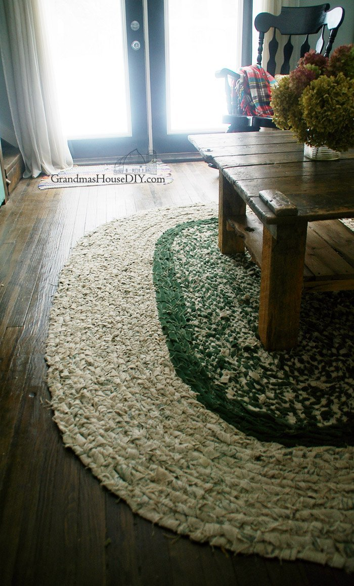 How to braid your own large rag area rug  Grandmas