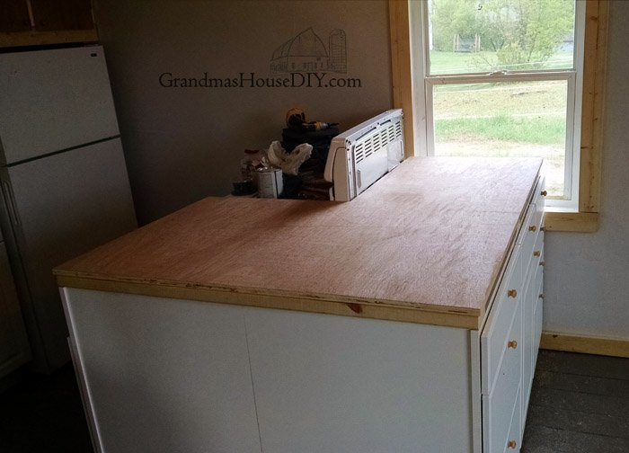 inexpensive kitchen countertops brushed stainless steel undermount sink wood working diy mahogany counter tops out of plywood!