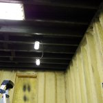 Basement Ceilings Painted Black A Spray Painting Job From Hell