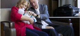 Bill and Hillary Clinton with granddaughter Charlotte