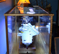 model ship acrylic display case