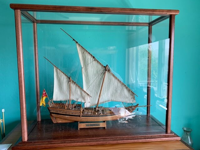 Custom Display Case Model Ship