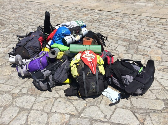 Don't let your gear weigh you down-Camino de Santiago Photo credit: Brien Crothers