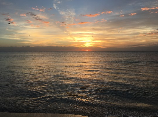 Sunrise on a Calm Caribbean Playa del Carmen