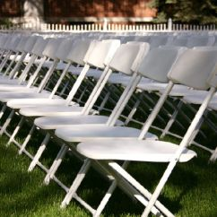 Renting Folding Chairs Zero Gravity Chair 2 Pack Grand Rental Station Wedding White Rentals