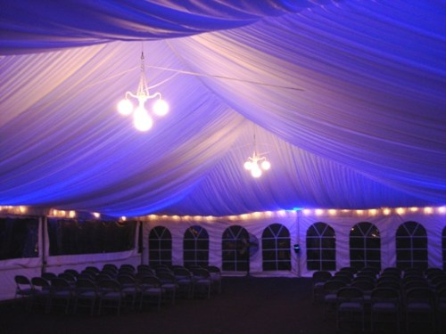 Rent your tent ceiling liner today!