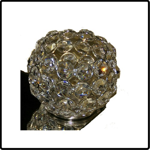 Round Crystal Beaded Votive holder