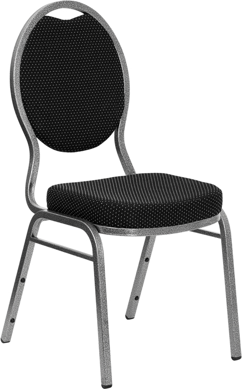 Black Padded Stacking Chair