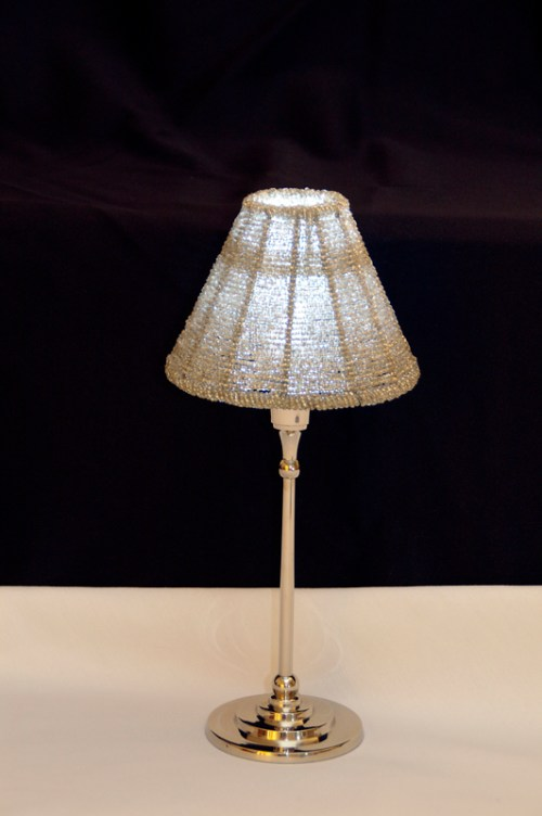 Lighted Lamp Shade And 24 Tall Glass Vase Grand Rental