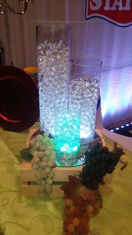 Glass Cylinder Vases w/ Floral Decor Beads