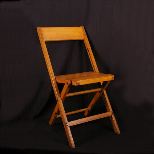 Chair Natural Wood Padded Grand Rental Station