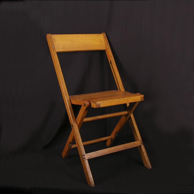 chair natural wood folding grand rental station