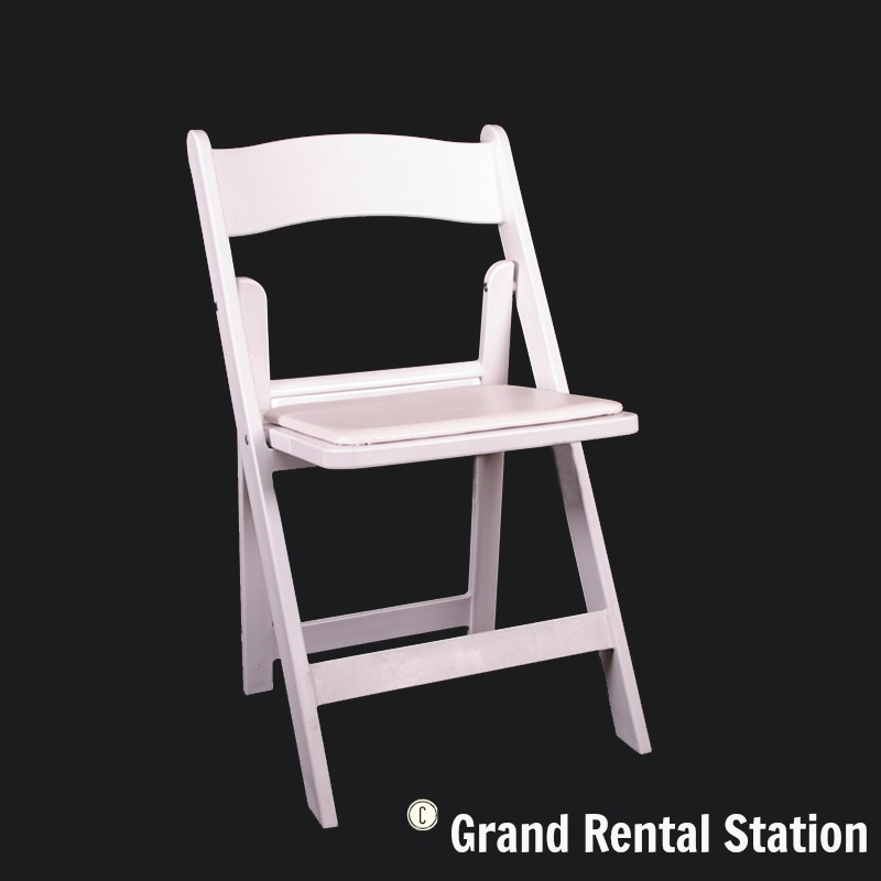 renting folding chairs chair design for coffee shop white padded grand rental station wedding