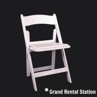 White Padded Folding Chair - Grand Rental Station