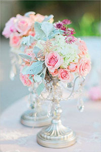 Bright pastel centerpiece