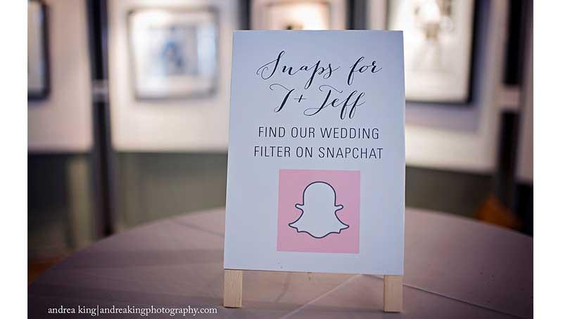snapchat filter wedding sign