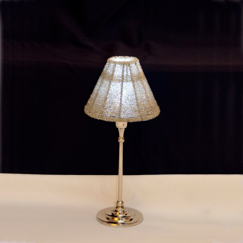 Silver Table Lamp w/ Shade